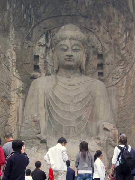 Huge Buddha in the Longmen Caves